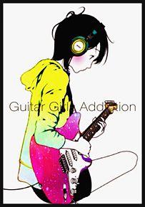 ギターを弾く女の子の画像(プリ画像)