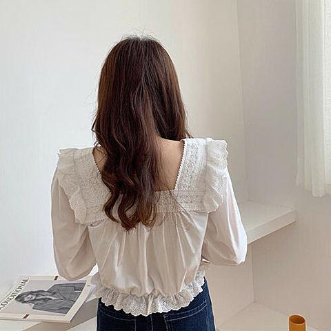 女の子 白 後ろ姿 おしゃれ かわいい 韓国 オルチャンの画像(プリ画像)