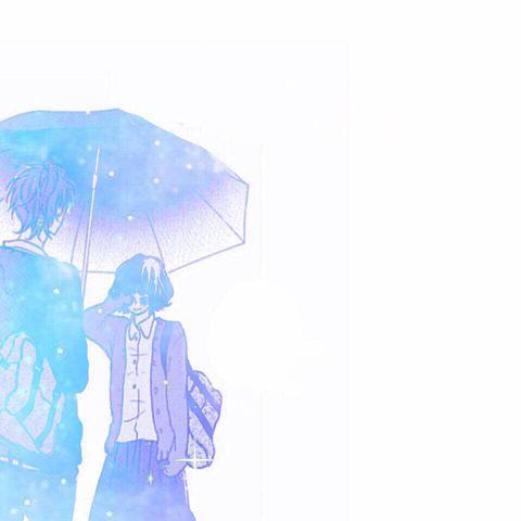 泣き虫な私にさし伸ばされた傘の画像(プリ画像)