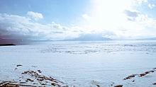 桜島 珍しい雪景色の画像(プリ画像)