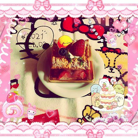 シャトレーゼ発酵バター香る苺のミルフィーユの画像 プリ画像