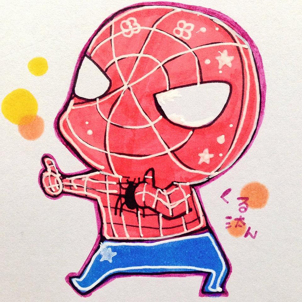 スパイダーマンの画像(かわいい イラスト スパイダーマンに関連した画像)