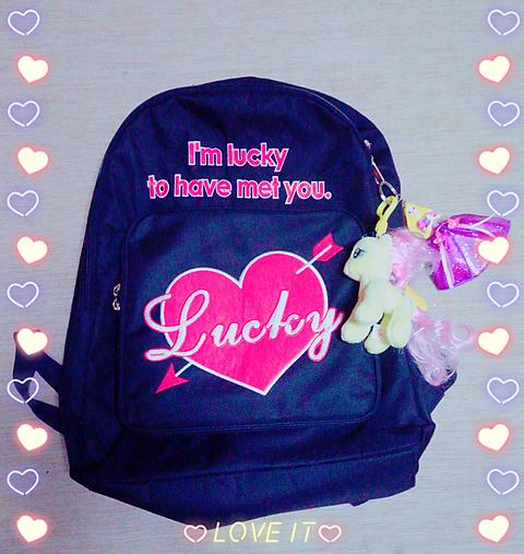 my Backpack 🎠💜💜の画像(プリ画像)