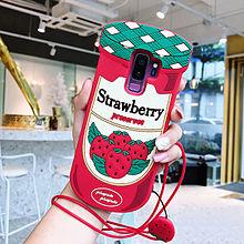 かわいい イチゴジャム瓶型 シリコン Galaxyケースの画像(イチゴに関連した画像)