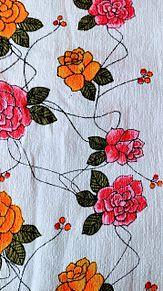 花柄×布 プリ画像