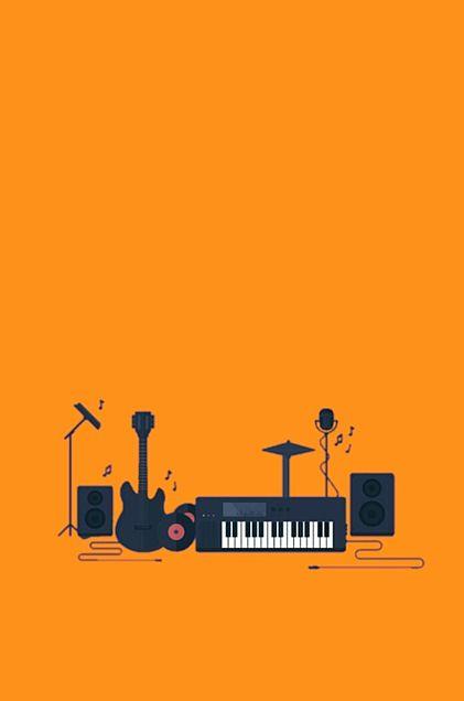 楽器*オレンジ*素材の画像(プリ画像)