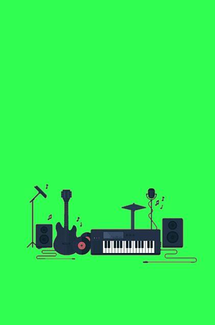 楽器*黄緑*素材の画像(プリ画像)
