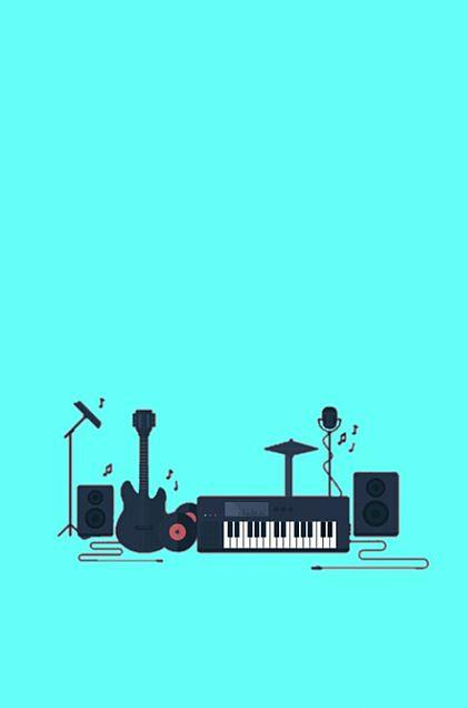 楽器*水色* 素材の画像 プリ画像