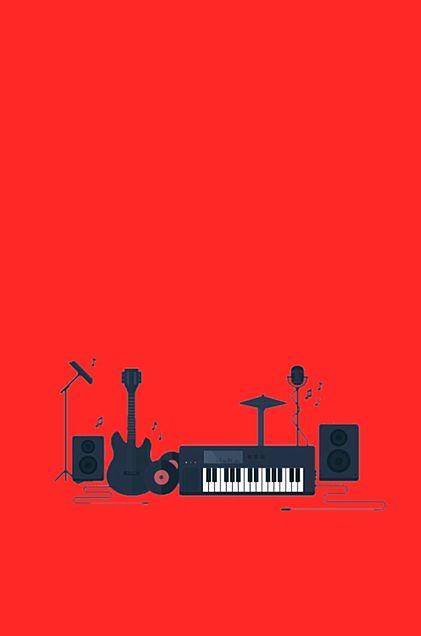 楽器*赤*素材の画像 プリ画像