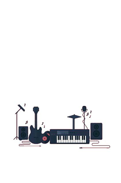 楽器*白*素材の画像(プリ画像)