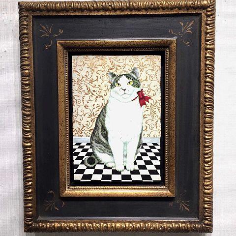 猫の絵画 銀座三越 写真右下のハートを押してねの画像 プリ画像