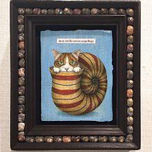 猫の絵画 銀座三越 写真右下のハートを押してねの画像(銀座に関連した画像)