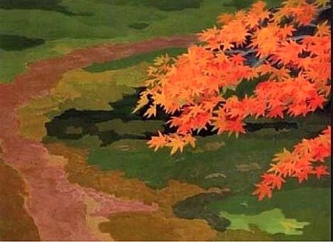 日本画 東山魁夷  初紅葉  写真右下のハートを押してねの画像(プリ画像)