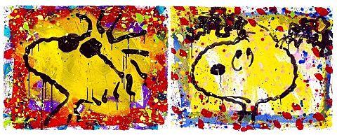 スヌーピー 版画 絵画  写真右下のハートを押してねの画像(プリ画像)