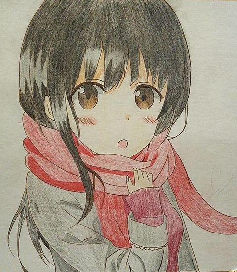 冬の女の子の画像(プリ画像)