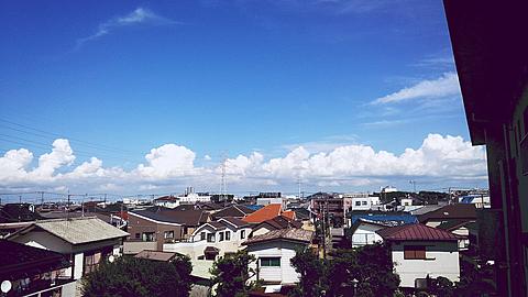 ある日のある場所のある空の画像(プリ画像)