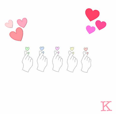 指ハートの画像(プリ画像)