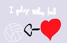 I  play volleyball .の画像(VOLLEYBALLに関連した画像)