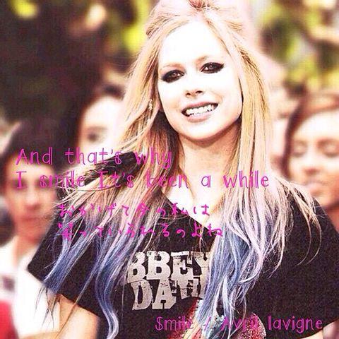 Smile  /  Avril lavigneの画像(プリ画像)