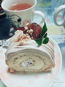 モンブランケーキの画像(プリ画像)