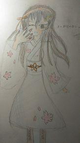 オリキャラ着物ver2です。(色つきver)の画像(着物に関連した画像)