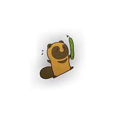 タヌキとキツネの画像(プリ画像)