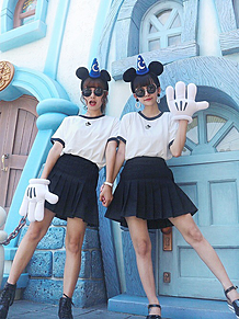 ディズニー双子コーデの画像(コーデに関連した画像)