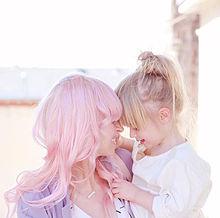 Mom & Girlの画像(プリ画像)