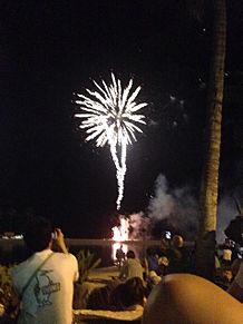 ハワイの花火 プリ画像