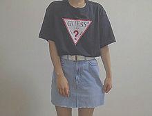 おしゃれ GUESS コーデ コーディネート 韓国の画像(オルチャン/素材に関連した画像)