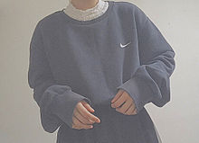 NIKE 古着 ダボダボ レイヤード トレンド 流行りの画像(レイヤードに関連した画像)