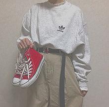 ファッション コーデ シンプル ワンポイント プリ画像