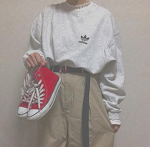 ファッション コーデ シンプル ワンポイントの画像(プリ画像)