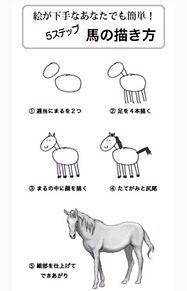 簡単な馬の書き方の画像(プリ画像)