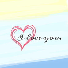 ペア画〈I love you〉の画像(ペア画 友達に関連した画像)