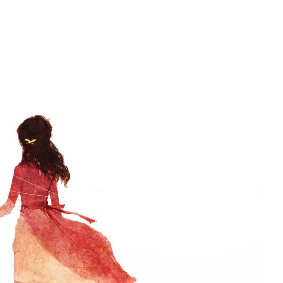 後ろ姿 赤 イラスト シンプル ホーム画面トプ画 背景原画[48703155