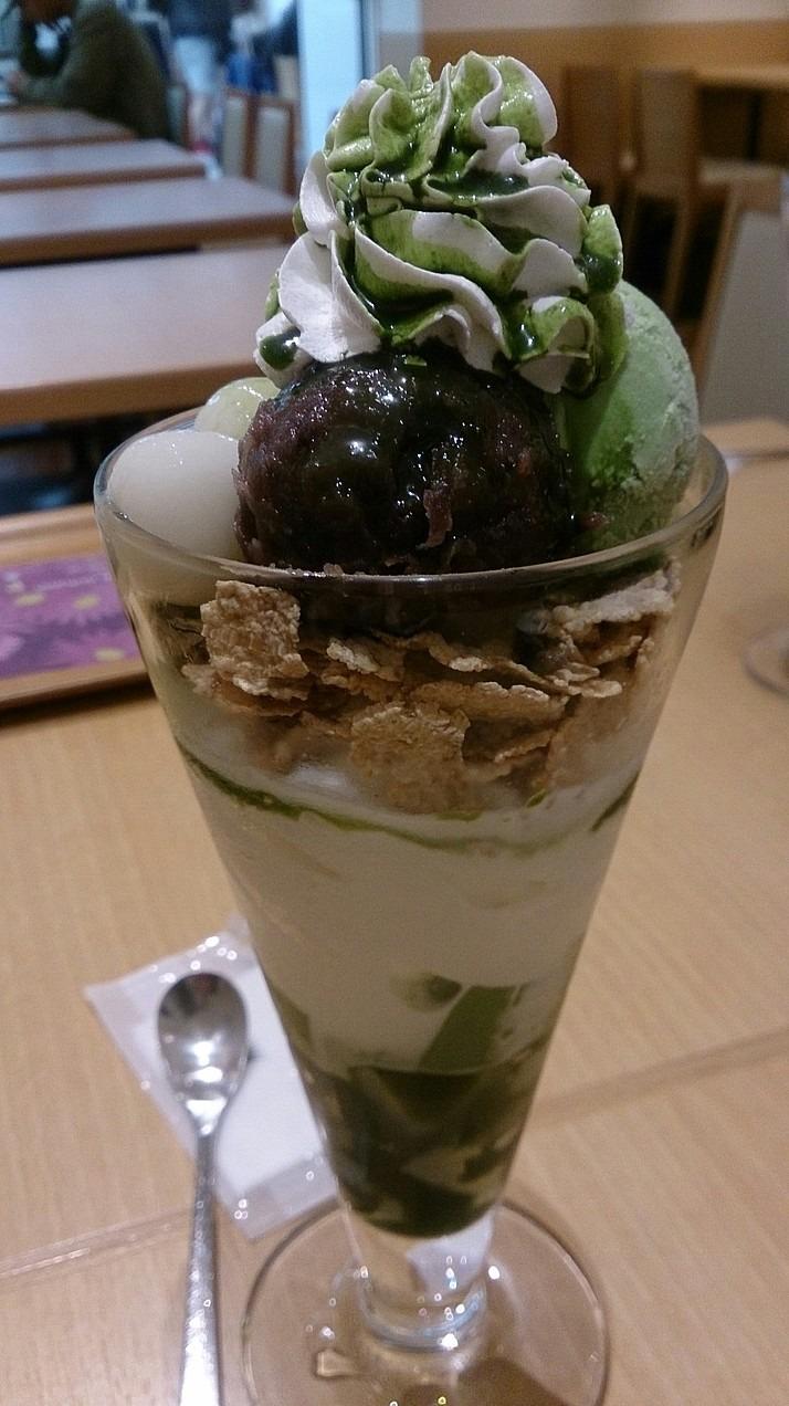 抹茶・アイス・クリームでデザート飯テロ 壁紙