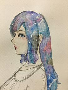 女の子描いてみたの画像(神秘的/幻想的/綺麗に関連した画像)