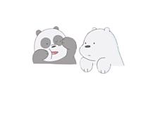 ぱんちゃん。くまちゃん。の画像(可愛い パンダに関連した画像)