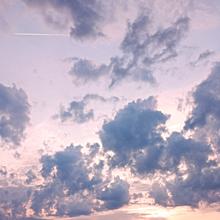 飛行機雲と空 プリ画像