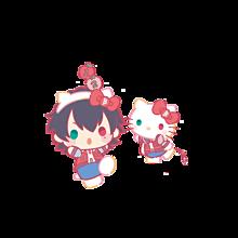 山田一郎×キティ サンリオコラボ 背景透過の画像(ヒプノシスマイクに関連した画像)