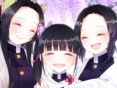 胡蝶三姉妹の画像(プリ画像)