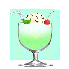 メロンソーダ🍈の画像(飲み物に関連した画像)