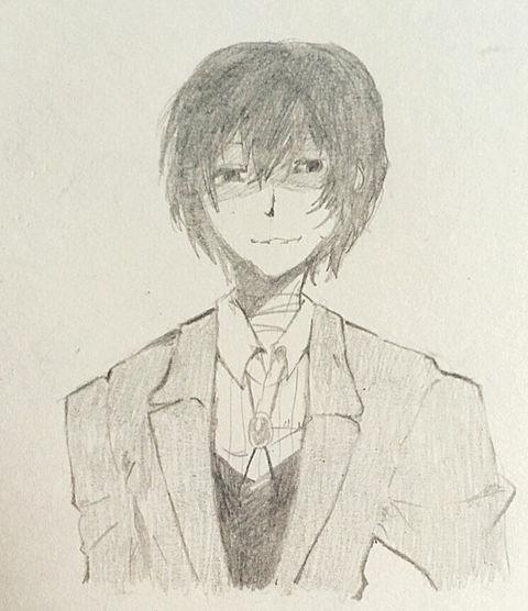 黒い模写太宰さんの画像(プリ画像)