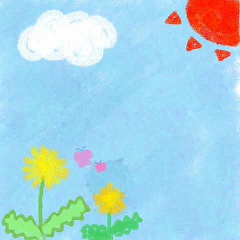 幼稚園の子が書きそうなお絵描き の画像(プリ画像)
