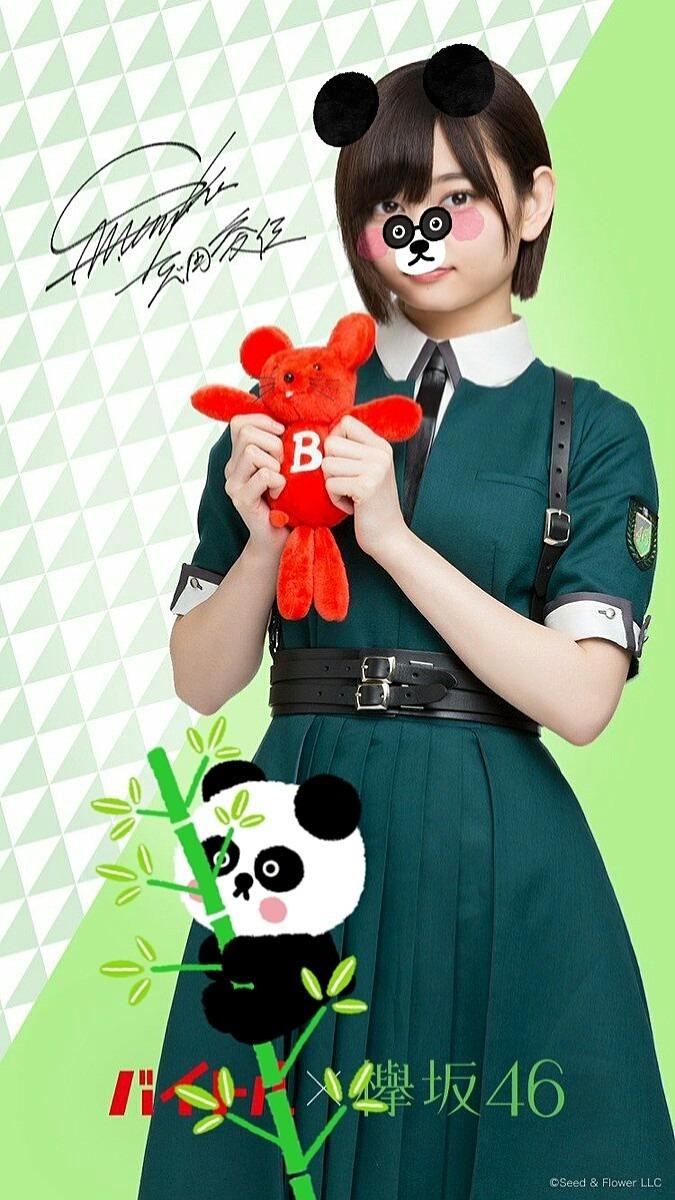 志田愛佳がパンダに変身です。