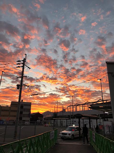 朝焼けの空の画像(プリ画像)