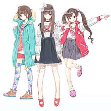 3人 かわいい イラスト 女の子の画像40点完全無料画像検索のプリ画像