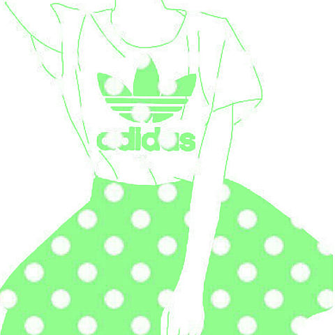 アディダス リクエスト 「水玉 緑」の画像(プリ画像)