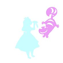 *アリス&チェシャ猫*の画像(ホーム画/トプ画/原画/素材に関連した画像)